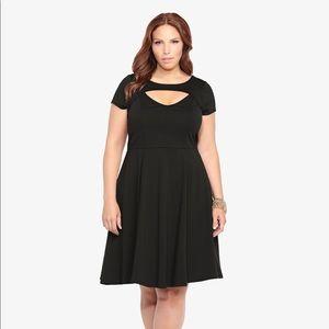 Torrid Keyhole Skater Dress Size: 4 Color: Black